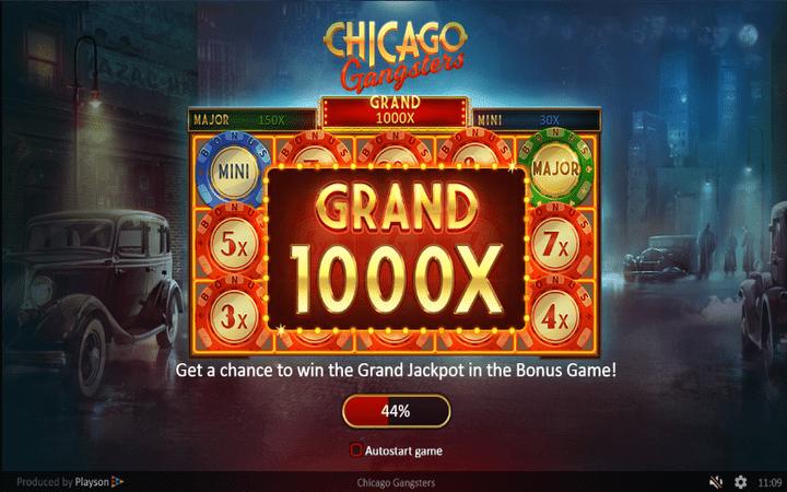 Chicago Gangsters, Grand Jackpot, online free spins, Online Casino Bonus