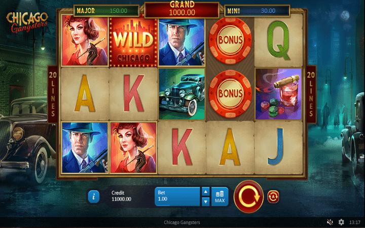Chicago Gangsters, grand džekpot, džokeri, Online Casino Bonus