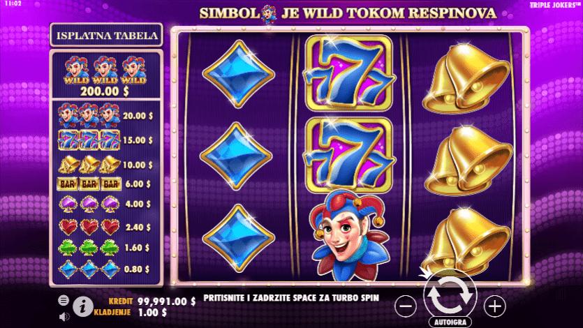#triple jokers #online casino bonus #džokeri  #zvončići #sedmice