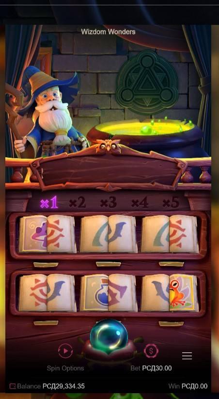Wizdom Wonders, PG Soft, Online Casino Bonus