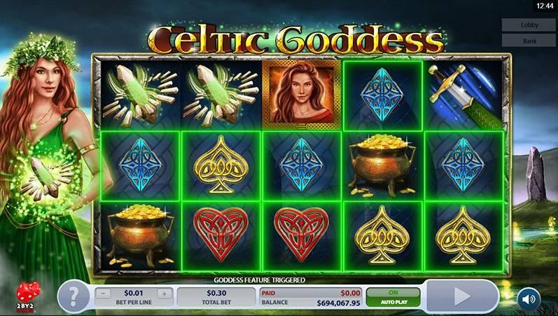 Celtic Goddess, Online Casino Bonus, Microgaming, 2 By 2 Gaming