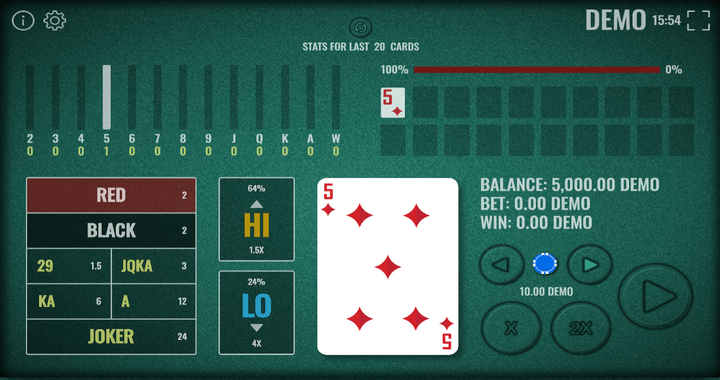 Hi Lo, Mb Games, Meridian Online Casino