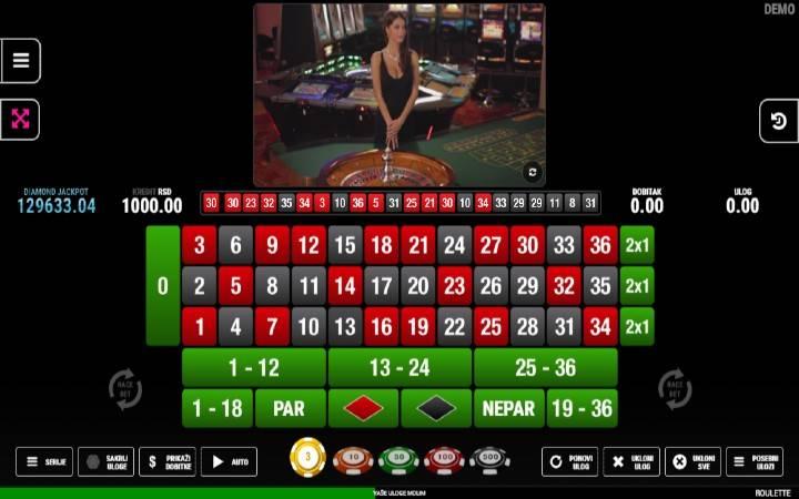 Roulette Fazi, Bonus Casino
