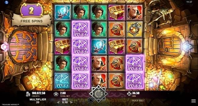 Treasure Heroes, Rabcat, Microgaming, Online Casino Bonus