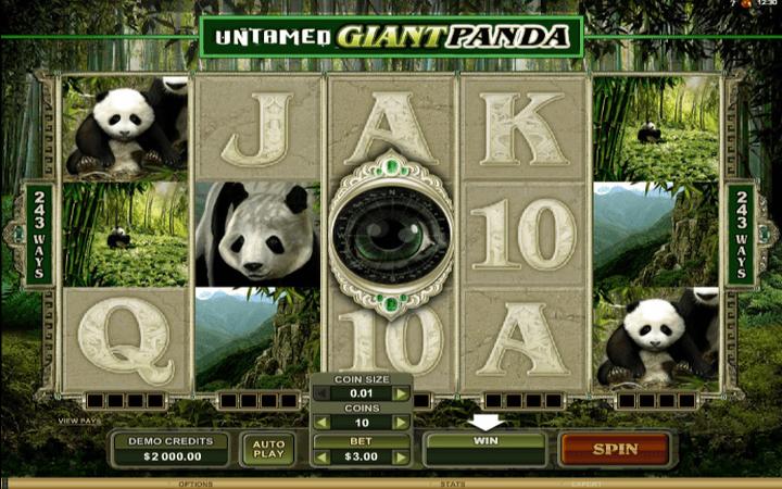 Untamed Giant Panda, online casino bonus, online free spins