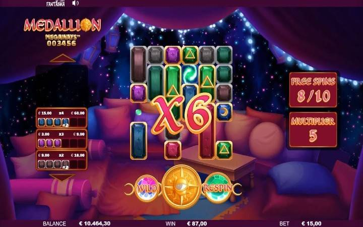 Top 5 najpopularnijih slotova, medallion megaways, online casino bonus