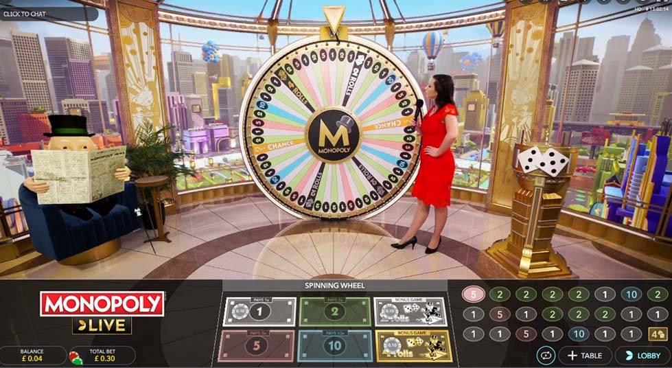 Monopoly Live, Evolution, Online Casino Bonus