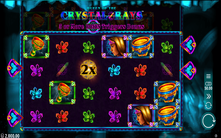 Queen of Crystal Rays, online casino bonus, jackpot, džokeri