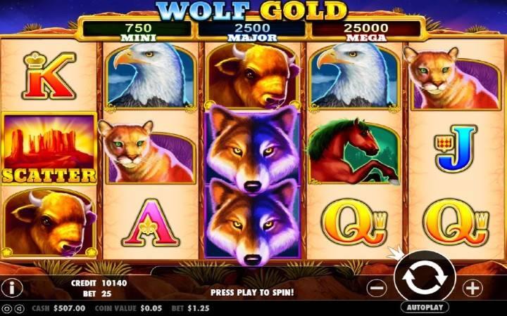 Top 5 najpopularnijih online slot igara, Wolf Glod, Online Casino Bonus
