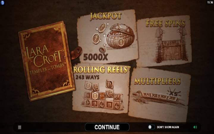 Lara Croft Temples and Tombs, Bonus Casino