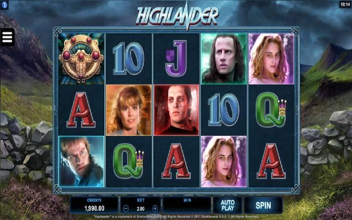 Highlander, online casino bonus, top 5 online slotova inspirisanih filmovima