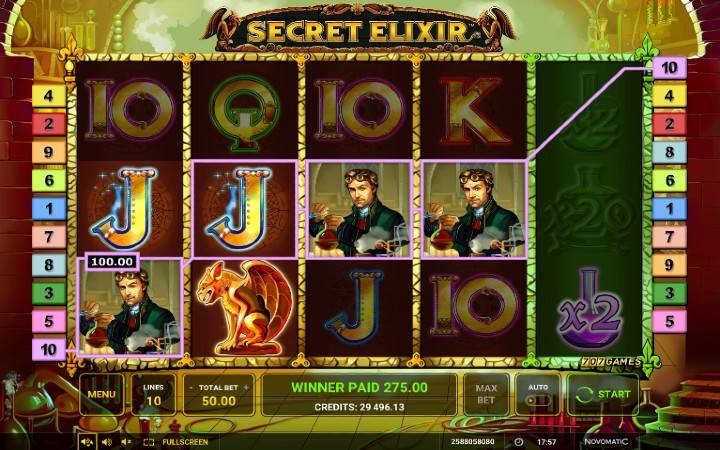 Online Casino Bonus, Secret Elixir