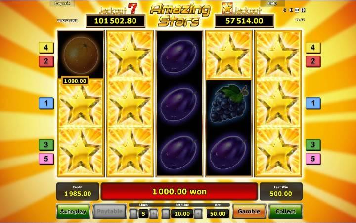 Bonus Casino, Amazing Stars