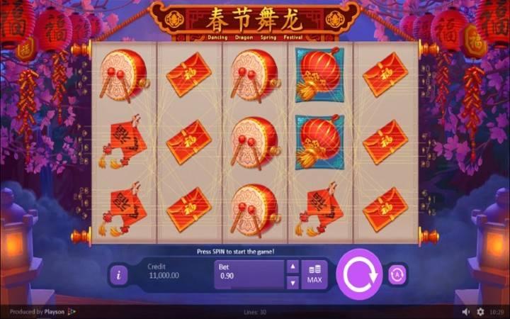 Dancing Dragon Spring Festival, Bonus Casino