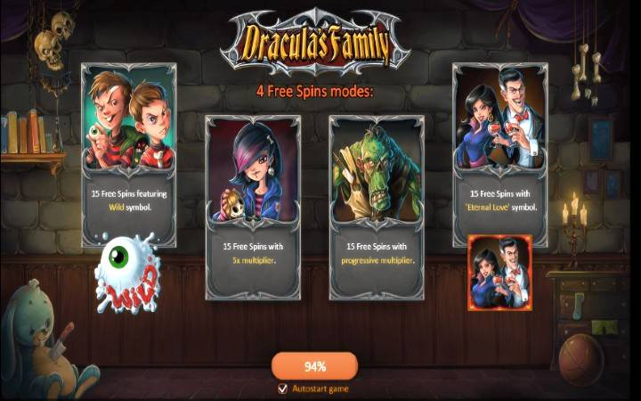 Dracula's Family, Bonus Casino
