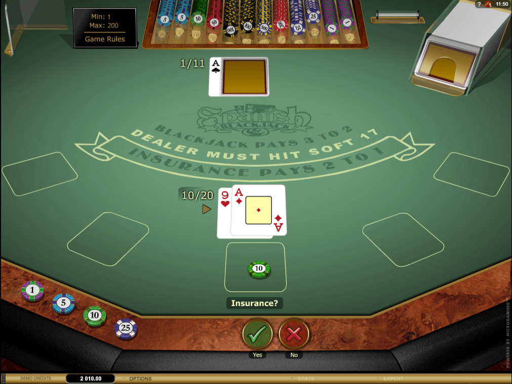 Spanish Blackjack Gold, Insurance Bet, Opcija osiguranja, Bonus Casino