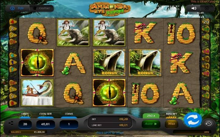 Anaconda Eye Rapids, online casino Bonus