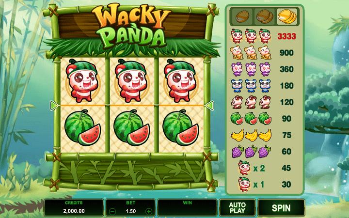 Wacky Panda, Microgaming, Bonus Casino