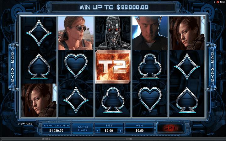 Terminator 2, Microgaming, Bonus Casino