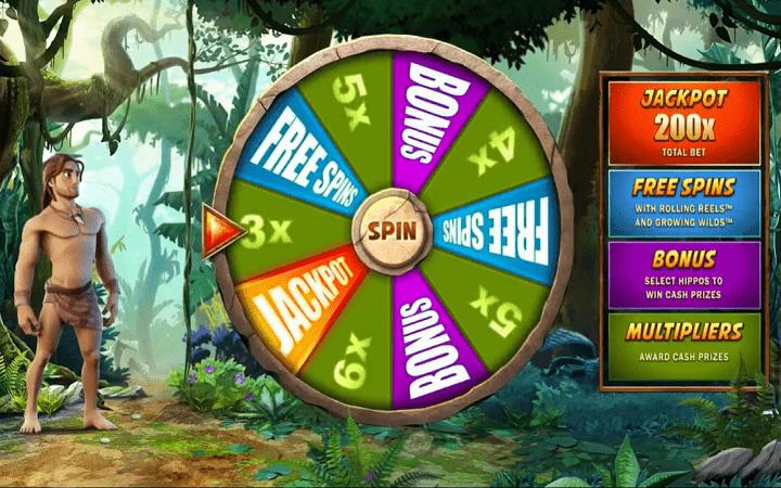 Tarzan, Microgaming, Bonus Casino