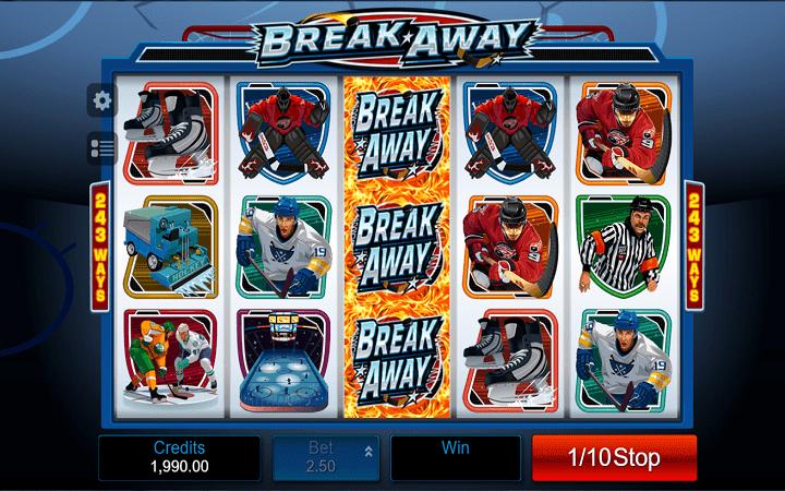 Break Away, Microgaming, Bonus Casino