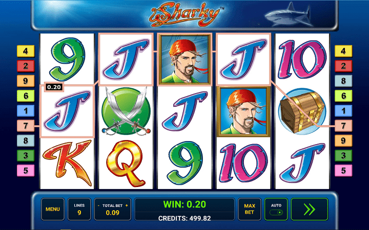Sharky, Novomatic, Greentube, OBonus Casino