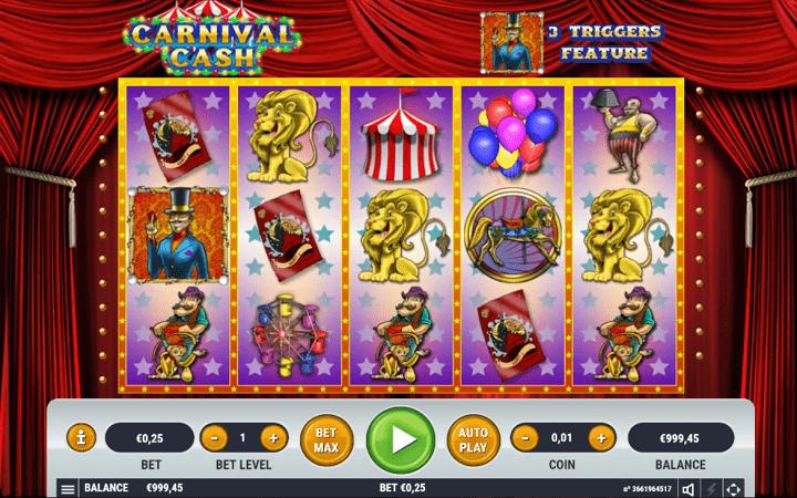 Carnival Cash, Habanero, Bonus Casino