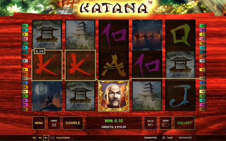 Katana, Novomatic, Greentube, Bonus Casino