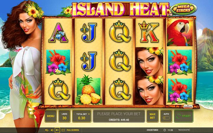 Island Heat, Greentube, Novomatic, Bonus Casino