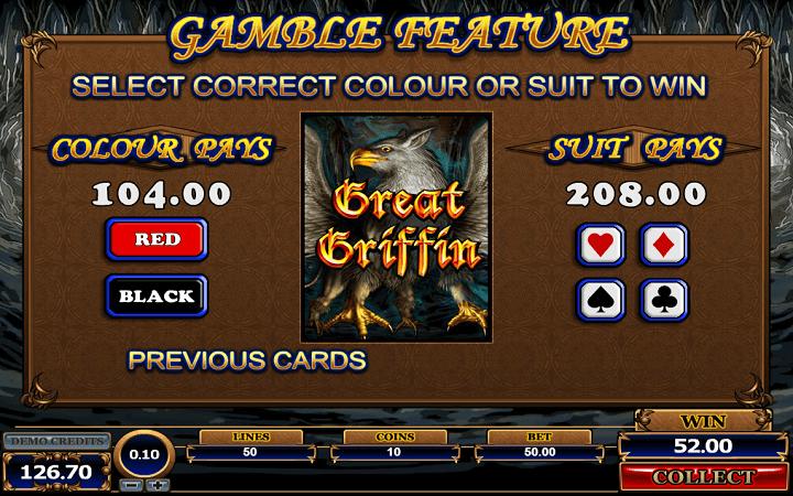 Great Griffin, Microgaming, Bonus Casino