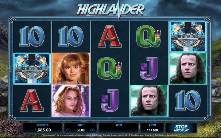 Highlander, Microgaming, Online Casino Bonus