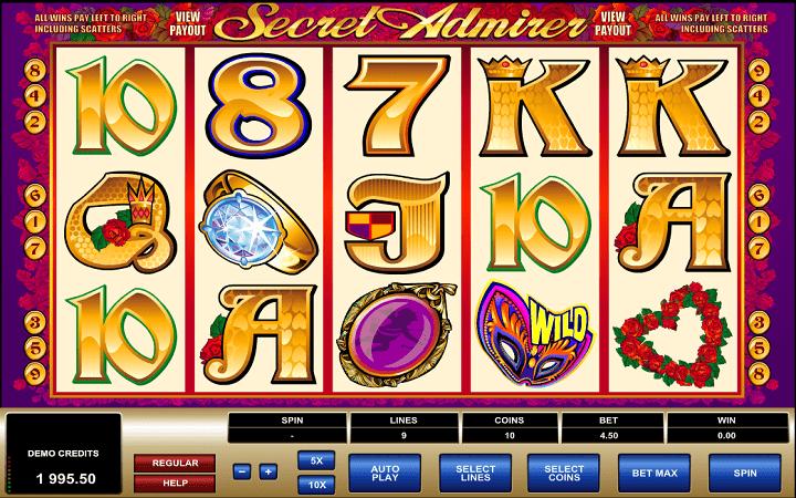 Secret Admirer, Microgaming, Bonus Casino