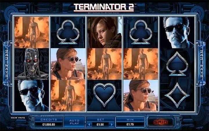 Terminator 2, Olnine Casino Bonus