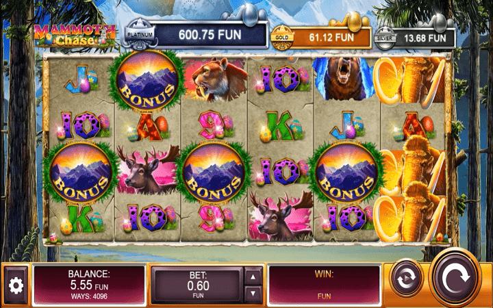 Mammoth Chase, Kalamba Games, Online Casino Bonus