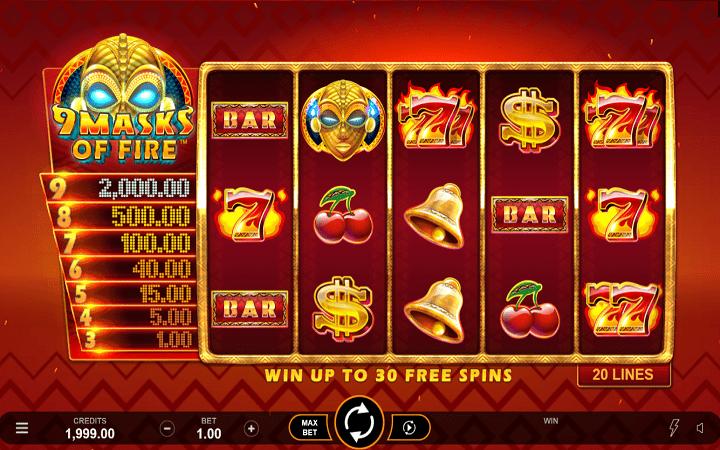 9 Masks of Fire, Microgaming, Bonus Casino