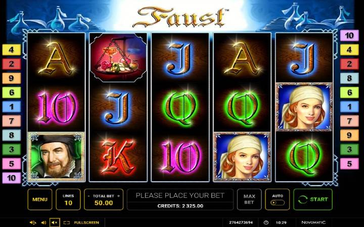Faust, Online Casino Bonus
