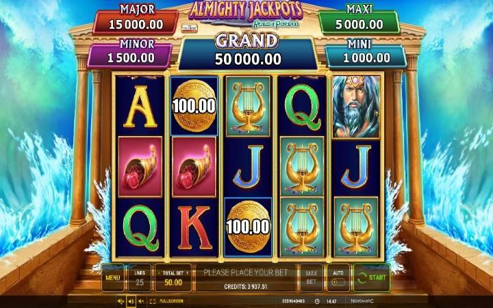 Almighty Jackpots Realm of Poseidon, Bonus Casino