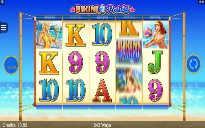 Respin funkcija, Bikini Party, online casino bonus