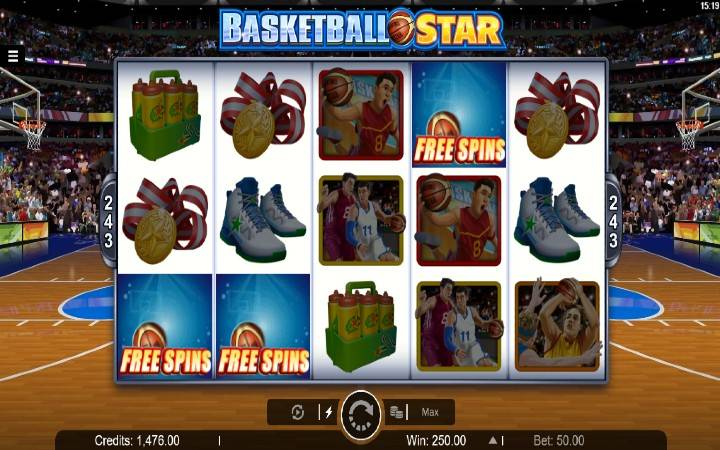 Besplatni spinovi, online casino bonus, Basketball Star