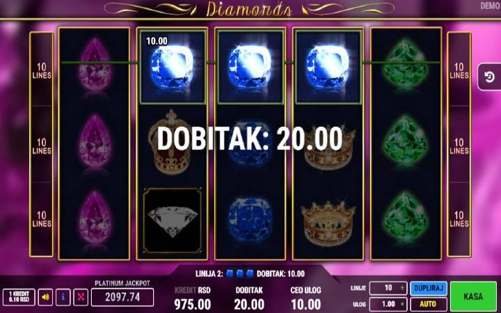 Online Casino Bonus, Diamonds
