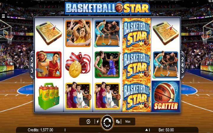 Online casino bonus, Basketball Star
