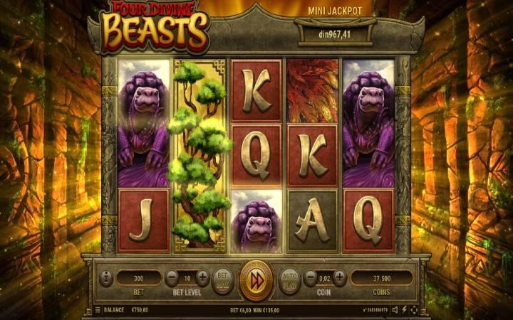 Besplatni spinovi, složeni džokeri, Four Divine Beasts, Bonus Casino
