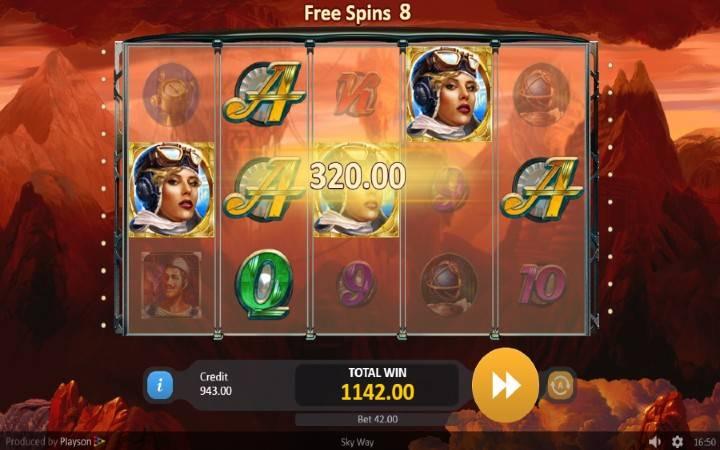 Sky Way, online casino bonus, besplatni spinovi