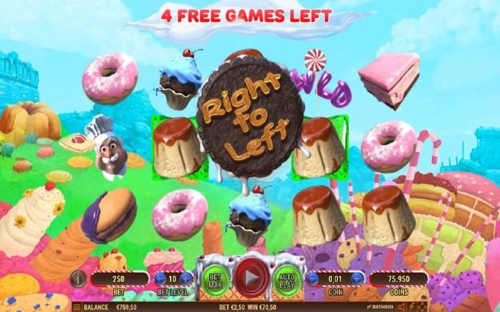Besplatni spinovi, multiplikator osam, cake valley, Bonus Casino