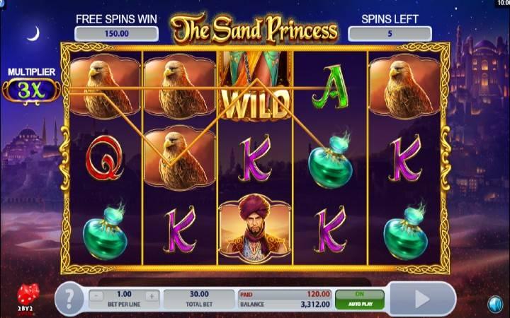 Online Casino Bonus, The Sand Princess