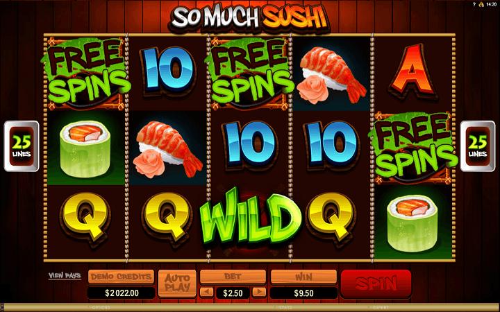 So Much Sushi, Microgaming, Online Casino Bonus