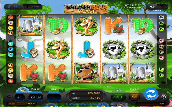 Broker Bear Blast, Oryx, Online Casino Bonus