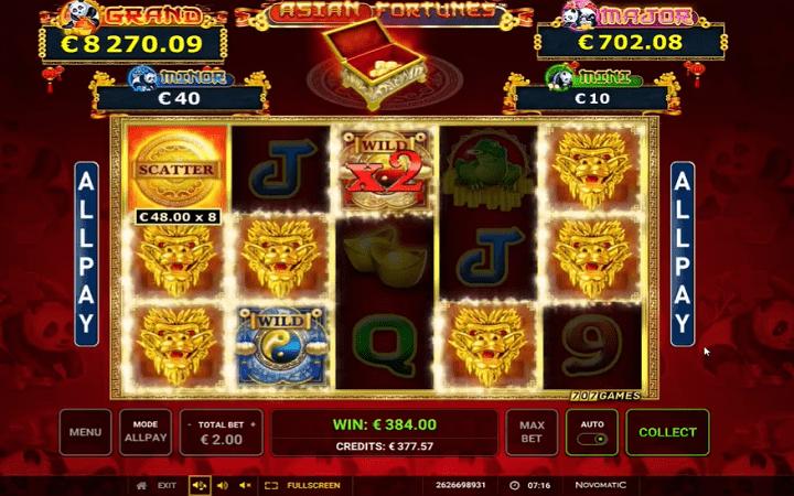 Asian Fortunes, Novomatic, Greentube, Online Casino Bonus